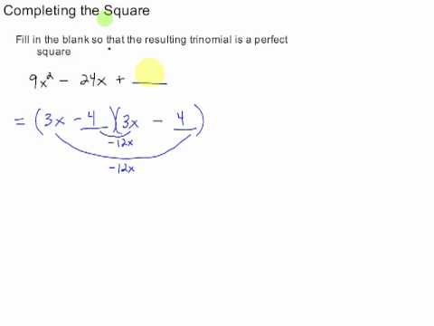 General Method of Completing the Square