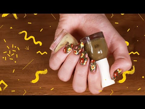 Flowery Fall Nails 2017 | مناكير خريف 2017 مع نور