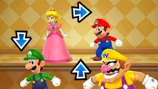 Mario Party 9 - MiniGames - Peach vs Mario vs Luigi vs Wario