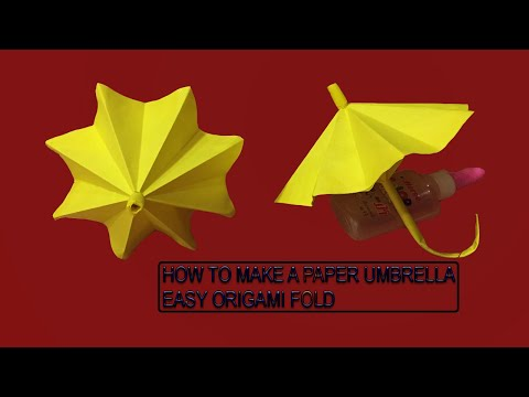 How to Make Paper Umbrella - (DIY) Origami Folds