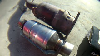 How to replace weld catalytic converter Toyota Corolla