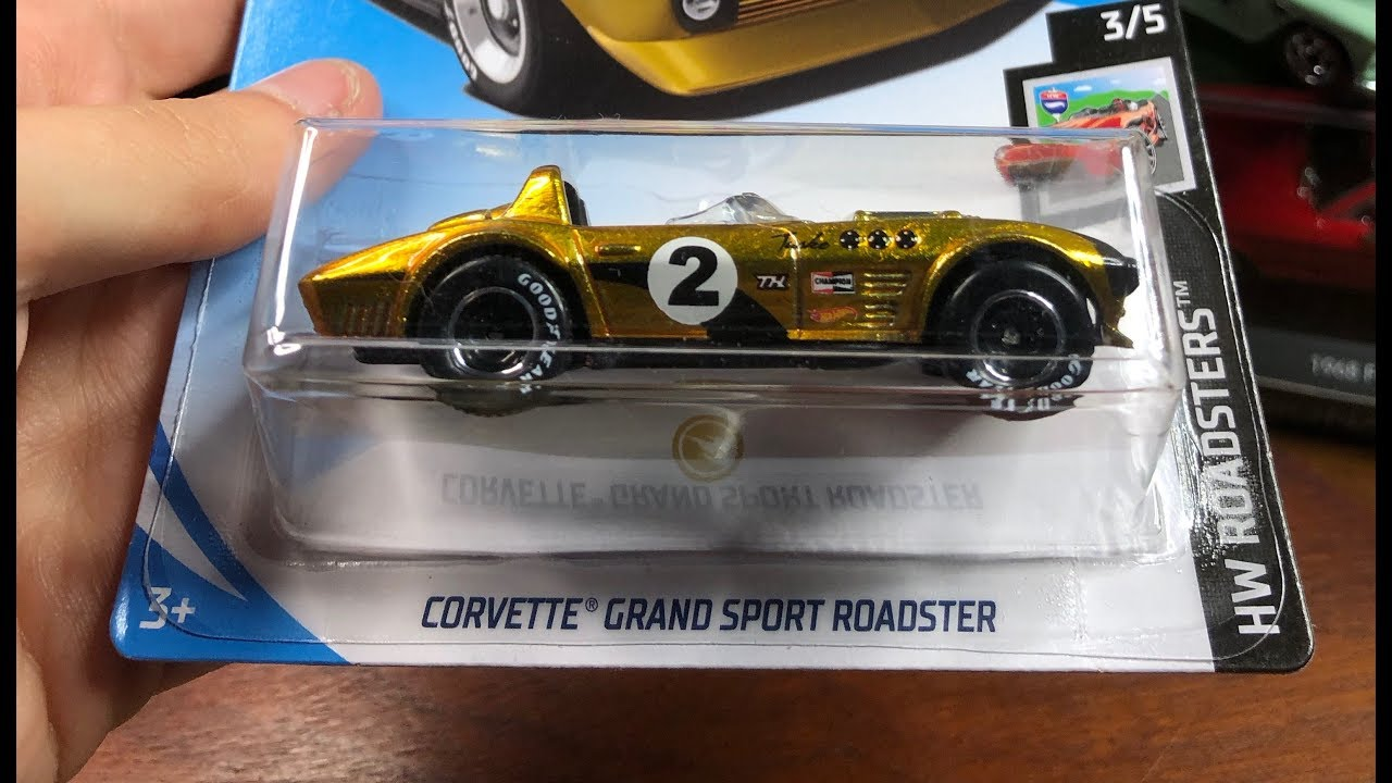 Hot Wheels 2019 Super Treasure Hunt Corvette Grand Sport Roadster