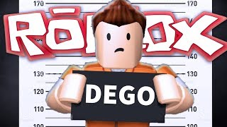 DEGO IS ARRESTED IN THE ROBLOX PRISION!!