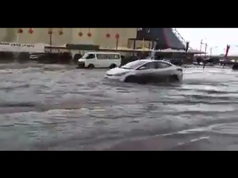Heavy Rain in Al Khobar Saudi Arabia