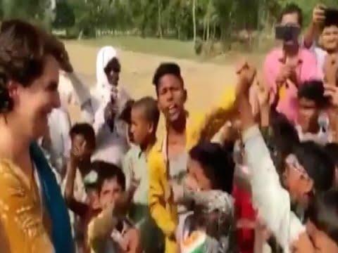 Reality of viral video of Priyanka Gandhi with kids raising slogans against Modi  Master S