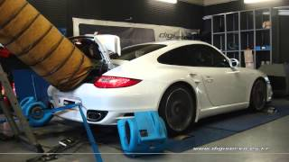 * Reprogrammation Moteur * Porsche 997 Turbo 500cv @ 546cv Dyno Digiservices Paris