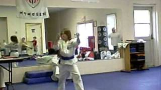 randy blue to brown belt test