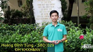 [SBD: 029] Hoàng Đình Tùng - Trường ĐH Khoa học Xã hội & Nhân văn
