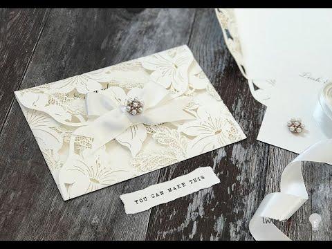 How To Make Celebrity Style Invitations Easy Diy Wedding Invitation Tutorial