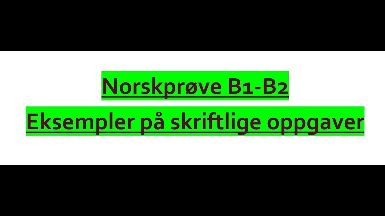 Norskprøve Muntlig Eksempel