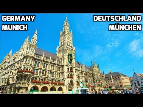 Walking Tour of Munich GERMANY Street Life Scenes Sights & Sounds People