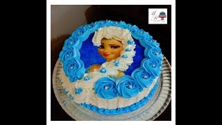 Bolo Elsa Com Trança de Chantilly