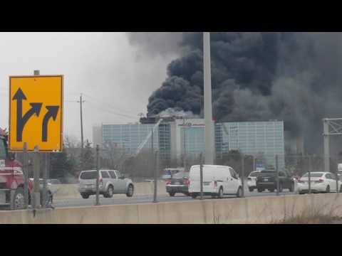 Fire at burloak and QEW