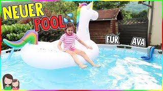 WOOOOW ein riesiger, neuer Pool für den Sommer 😍 Alles Ava