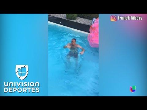 Franck Ribery, un crack en la cancha pero un fiasco en la piscina