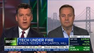 Jason Calacanis CNBC Halftime Report: Tech testifies Congress, CEOs no-show mistake, FB & Google lie