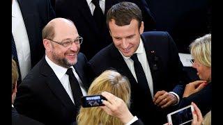 Frankreich-Besuch: Martin Schulz trifft sich mit Emmanuel Macron in Paris