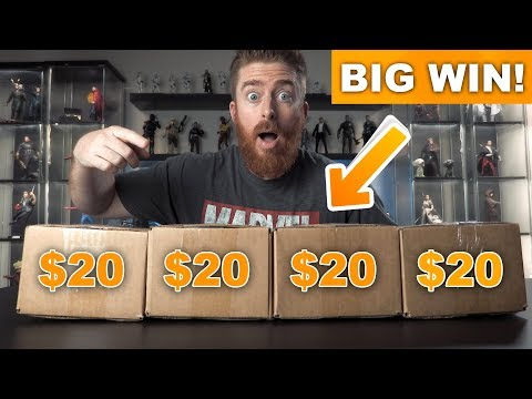 FOUR $20 Funko Pop Mystery Boxes Top Prize Inside