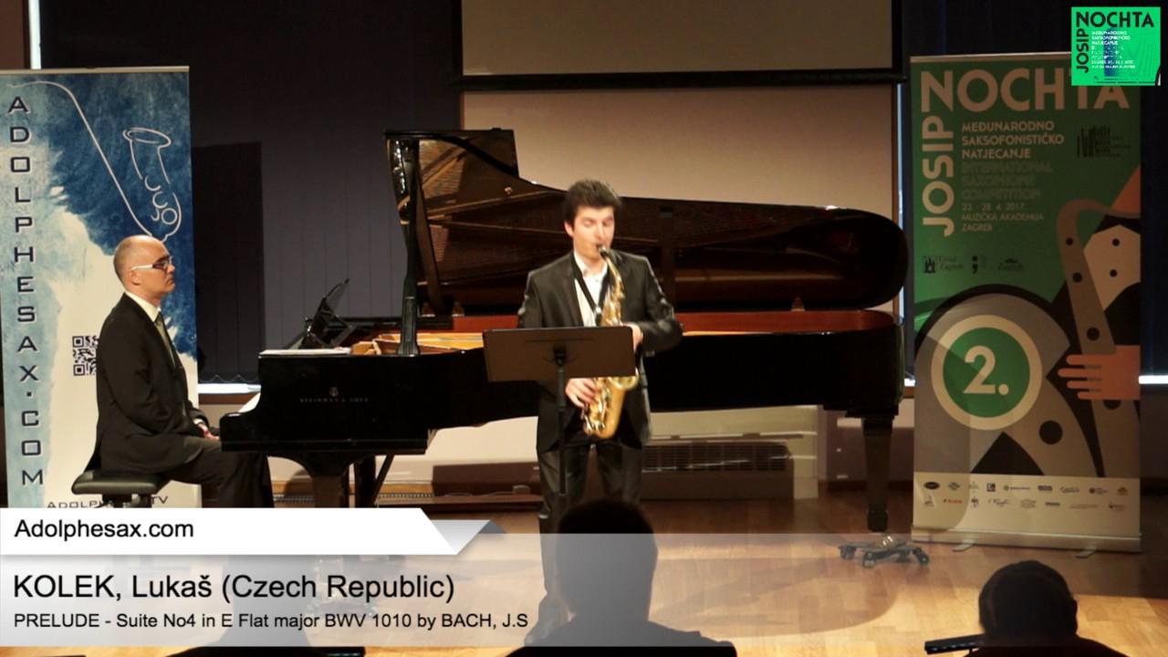 Johann Sebastian Bach   Suite No 4 in E  at major BWV 1010 Pre?lude  – KOLEK, Lucas Czech