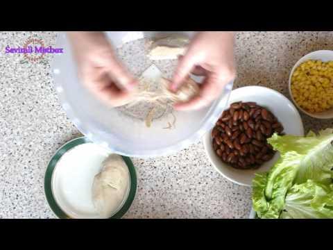 Kahı və Toyuq Ətindən Salat