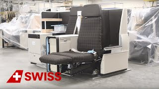 Design and construction of new B777 SWISS Business seats | SWISS