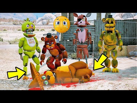 ANIMATRONICS Quem MATOU EL-CHIP animatronics? | GTA V Five Nights at Freddy's