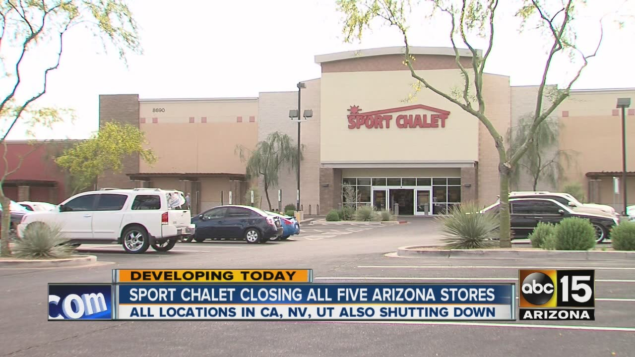 Sport Chalet closing all five Arizona stores