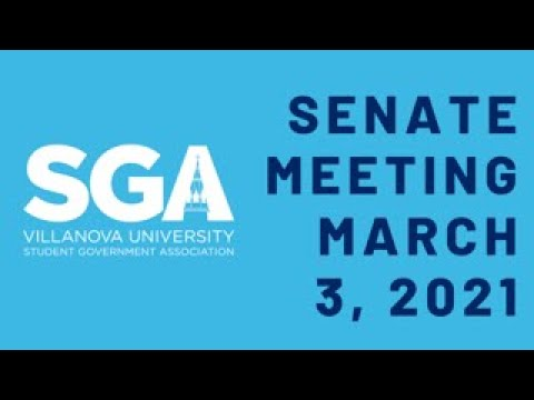 SGA Senate Meeting March 3rd, 2021