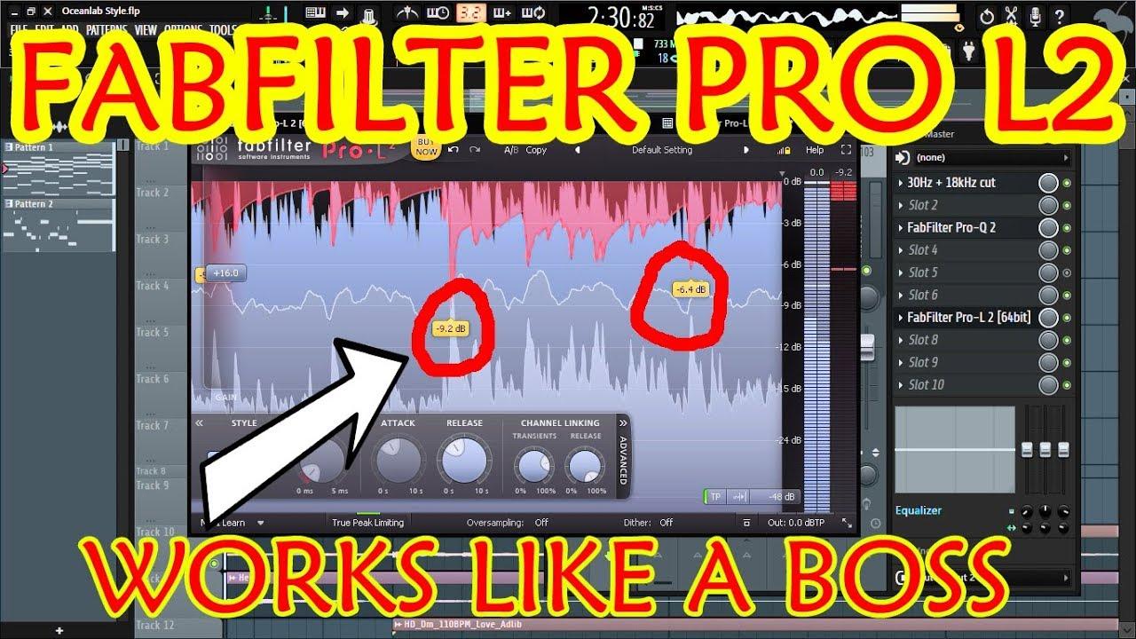 Using Fabfilter Pro L2 on my track in FL Studio [True peak limiter