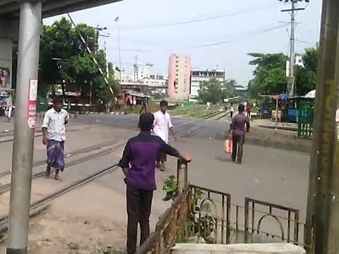 Karwan Bazar Rail Crossing Area