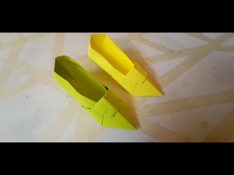 Origami high heels design – shoe tutorial DIY