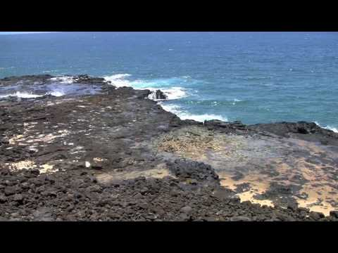 Confused tourist at Spouting Horn, Kauai, Hawaii (720p HD)