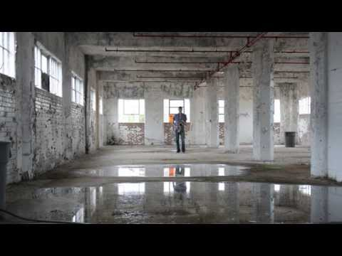Amazing sound from a saxophone in a warehouse