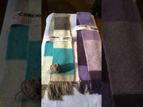 Caron Cakes knit scarves