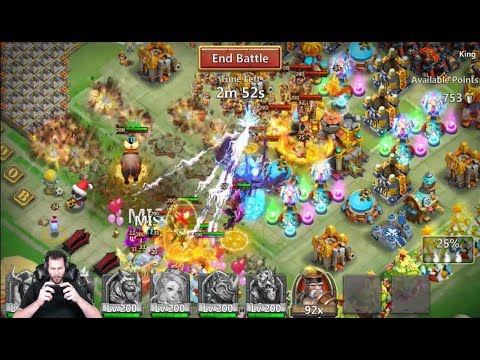 Guild Wars Walla Walla Head 2 Head INSANE Damage Output Castle Clash