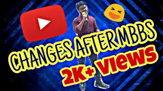 CHANGES BEFORE AND AFTER MBBS ||ADCREATIONS STAND UP COMEDY || PT. JNM MEDICAL COLLEGE RAIPUR ||