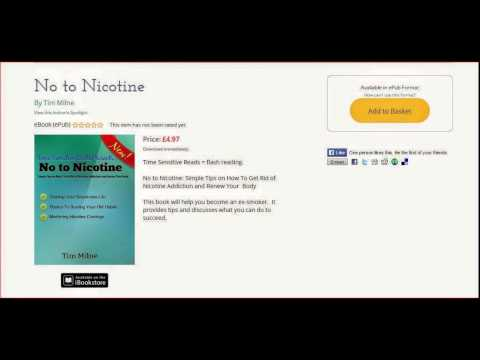 No To Nicotine EBook Available On Lulu