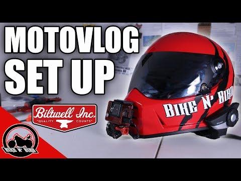 Biltwell Lane Splitter Motovlog Setup - Bike N' Bird