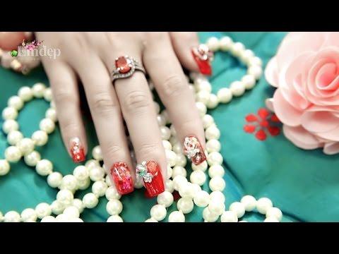 Cách sơn móng tay hoa lụa đẹp mê hồn