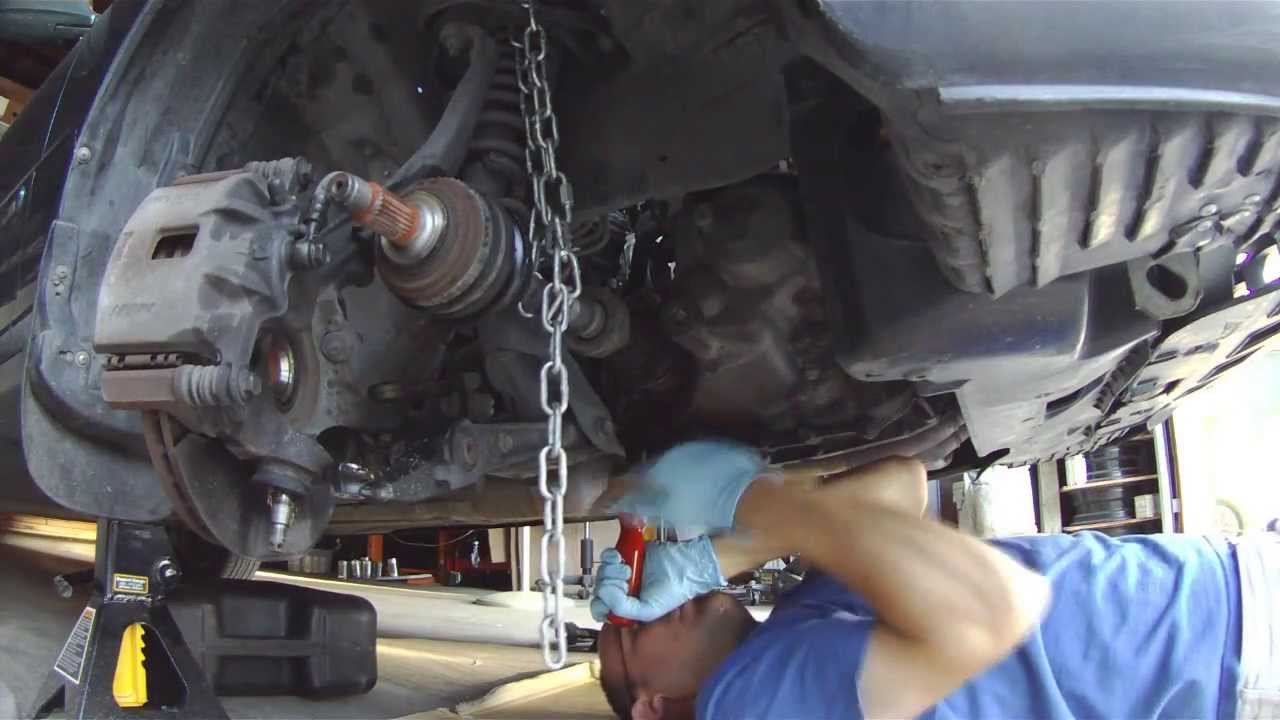 Removing a Stuck CV Axle Inner Joint - YouTube