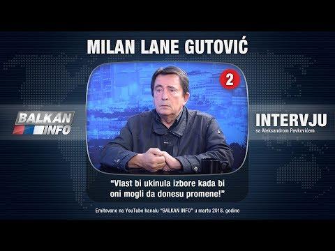 INTERVJU: Lane Gutović - Vučić glumi vladara Srbije, sistem funkcioniše kao javna kuća! (03.02.2018)