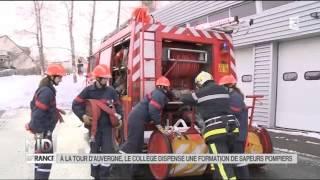 LA DÉCOUVERTE DE NATHALIE : Une formation de Sapeurs Pompiers à la Tour-d'Auvergne