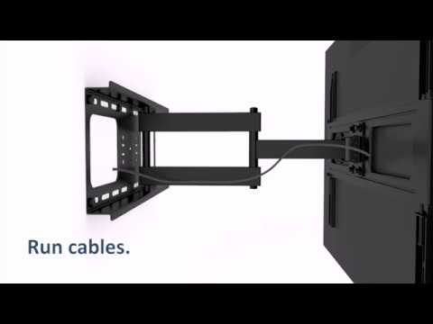 Manhattan Universal Flat-Panel TV Full-Motion Wall Mount Quick Install Guide (Model #461283)