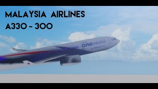 ROBLOX - Malaysia Airlines A330 -300 (business class)