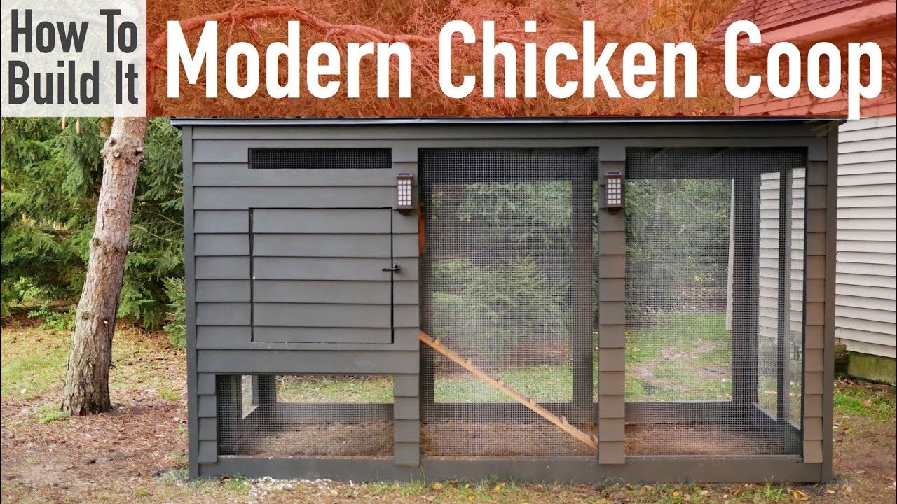 How To Build A Modern Chicken Coop Youtube