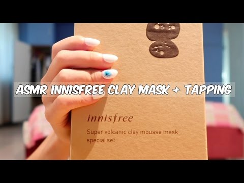 ASMR Unboxing (with Acrylic Tapping): Innisfree Volcanic Face Mask