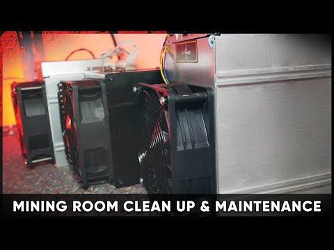 Mining Room Clean Up & Maintenance [ASIC / FPGA / GPU Miner] #crypto