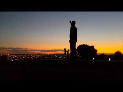 Beautiful Sunset in Bloemfontein from Naval Hill