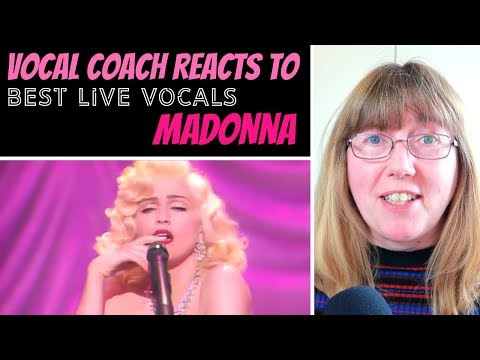 Vocal Coach Reacts to Madonna Best LIVE Vocals