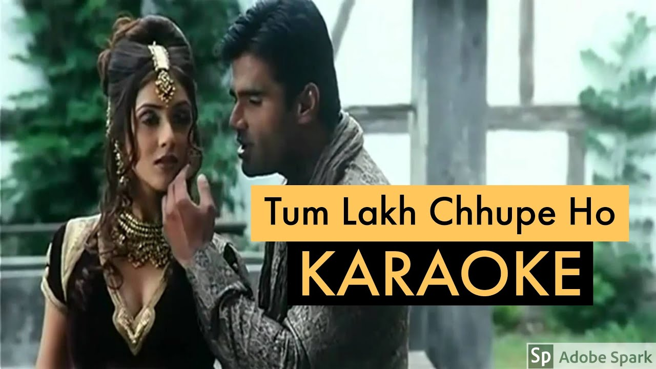 Tum Lakh Chupe Ho (Pyaar Ishq Aur Mohabbat) - Karaoke With Lyrics    Old Bollywood Songs Karaoke